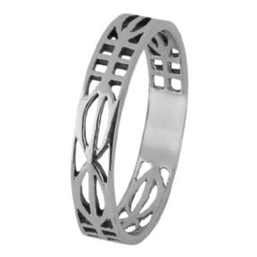 Mackintosh Lines Silver Ring 0121